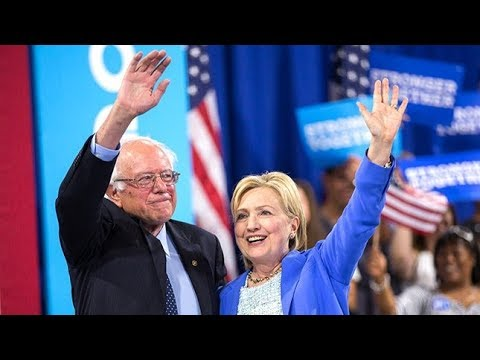 Bernie Sanders Endorsing Hillary Clinton as Democratic Nominee During Convention