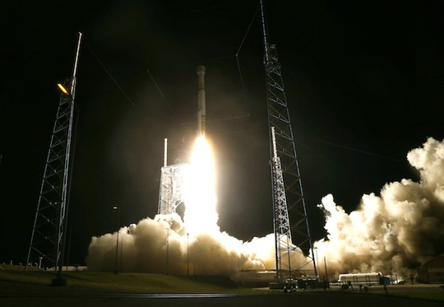 The United Launch Alliance Atlas V rocket lifts off