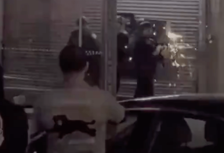 Team of NYPD officers filmed breaking into jewelry store with metal cutting wheel during riot