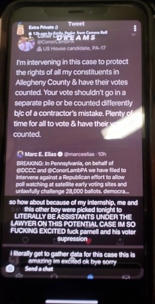 Dem Superlawyer's Assistant Engaged in Possible Voter Intimidation