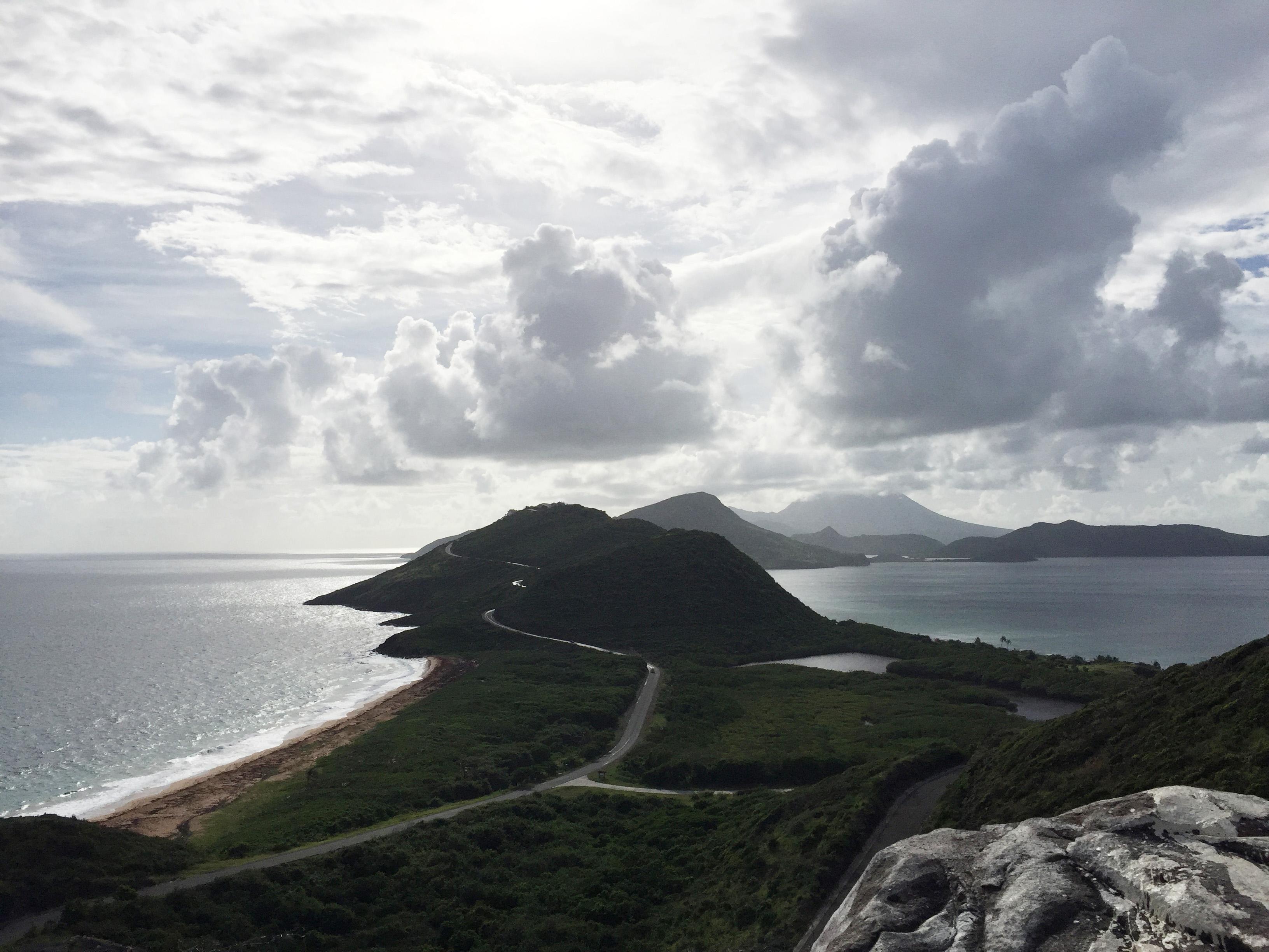 St. Kitts faces the Caribbean Sea and Atlantic Ocean