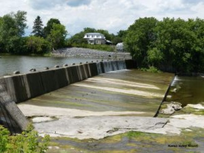 Conditions at the Crysler Dam on July 1.