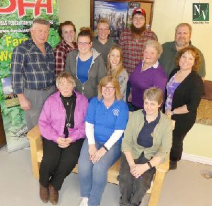 Front, from left: Chesterville Fair Board President Carol Johnson, Past President Tina Asselin and Secretary/Treasurer Deb Angel. Back, from left: Director Gord Johnson, 1st Vice Ashley Johnson, Director Annie LeClair, Associate Director Hayley Cooke, Director Sara Dillabough, and Associate Directors Kim Link, and Scott and Anne McLean. Zandbergen photo, Nation Valley News
