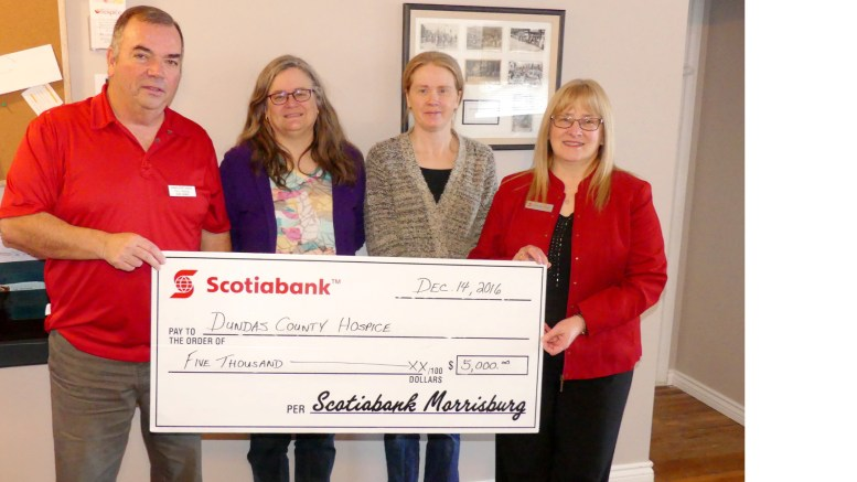Holiday haul for Hospice, courtesy of Scotiabank | Nation Valley News