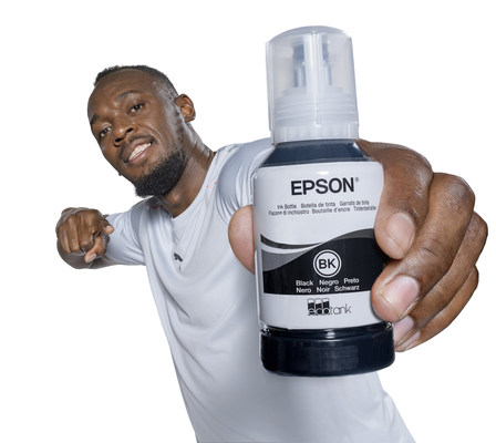 Usain Bolt Becomes Face of Epson's Cartridge-Free Printing Campaign