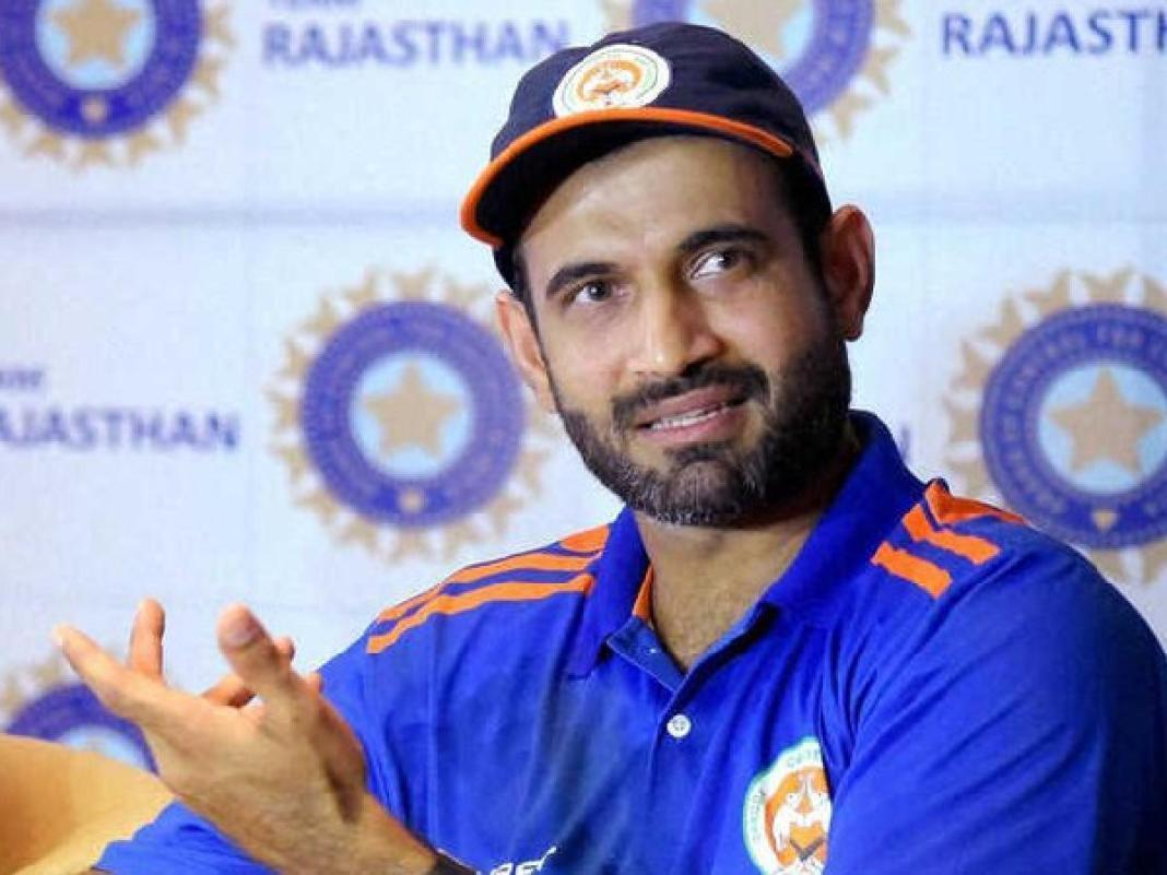 Irfan Pathan in support of Rihanna, named after George Flood, with other players in India