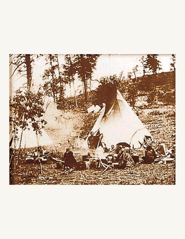 Apache Camp Tin-Type Print