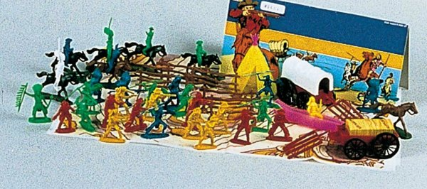 Cowboy Indian Western Village Play Set 13-2264