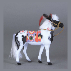 Flocked Paint Pinto Horse With Indian Blanket