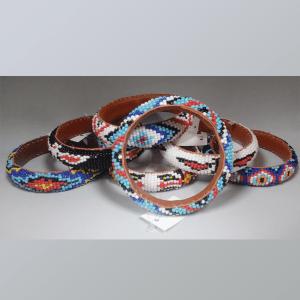 Hard Bangle Beaded Bracelet