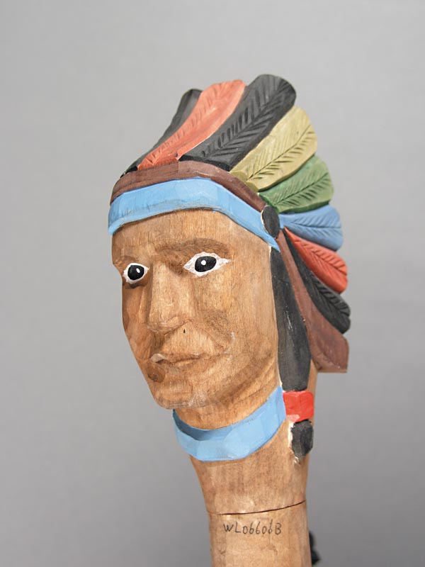 Indian Chief Carved Walking Stick 70-6105