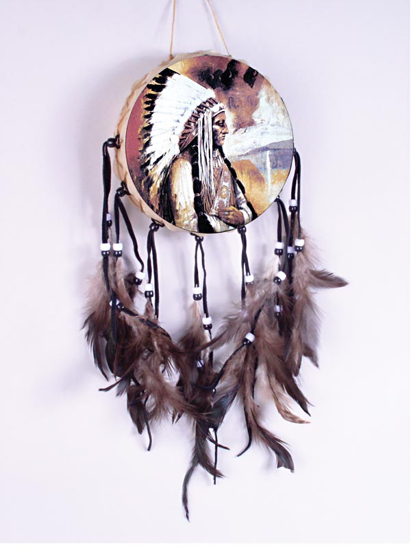 Indian Chief Painted Drum 70-600-28