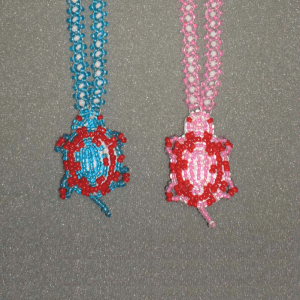 Pearlized Turtle Beaded Necklace