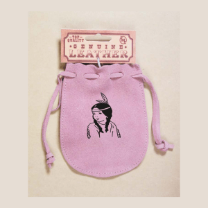 Pink Suede Indian Priness Poke Bag