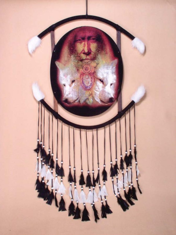 Wolf Indian Reflection Mandala