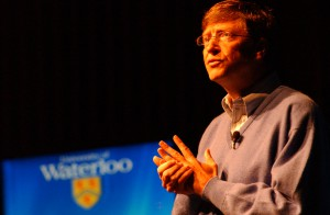 Bill Gates in 2005. Photo by Mohammad Jangda at the University of Waterloo.