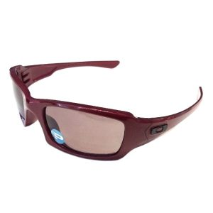 Oakley Fives Squared Sunglasses - Metallic Red - OO Grey POLARIZED 26-201