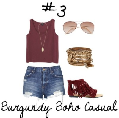 03 Burgundy Boho Casual