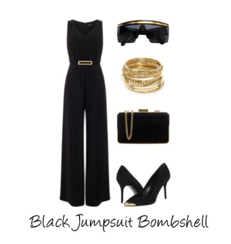 Black Jumpsuit Bombshell - Copy