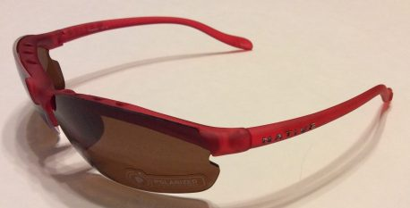 Native Eyewear Dash XP Sunglasses + XTRA Lenses - Red Frost POLARIZED Brown