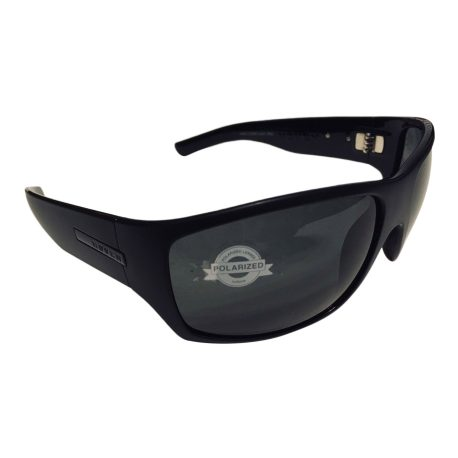 Hoven Vision Times Sunglasses ANSI Compliant - Matte Black Frame - Polarized Grey Lens
