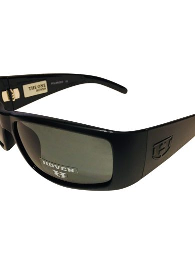Hoven Vision The One Sunglasses ANSI Matte Black POLARIZED Grey