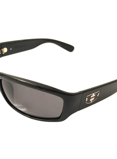 Hoven Vision Highway Sunglasses - Gloss Black Frame - POLARIZED Grey