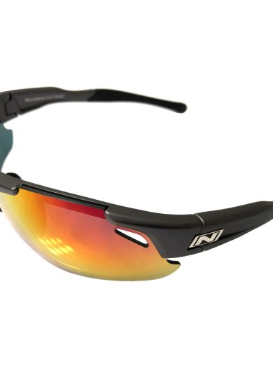 Optic Nerve Neurotoxin 3.0 Sunglasses - Matte Carbon - Smoke Red Mirror