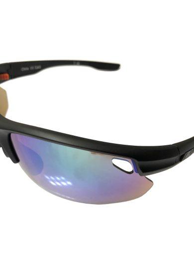 Optic Nerve Desoto Plus Filp Off Sunglasses - Matte Black - Smoke Green Mirror