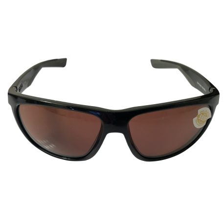 Costa Del Mar Kiwa Sunglasses - Shiny Black POLARIZED Copper 580P