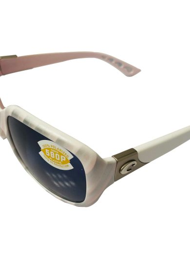 Costa Del Mar Gannet Sunglasses - Matte Seashell POLARIZED Gray 580P