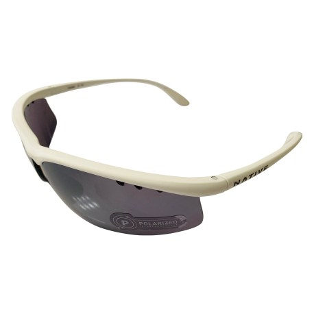 Native Eyewear Dash AF Sunglasses EXTRA Lens Set - Matte White Frame - POLARIZED N3 Silver Reflex