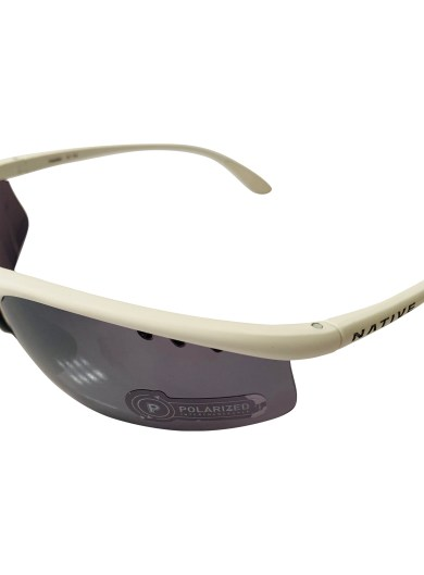 Native Eyewear Dash AF Sunglasses EXTRA Lens Set - Matte White Frame - POLARIZED N3 Silver Reflex