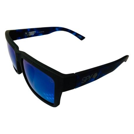 Spy Optic Montana AF Sunglasses - Soft Matte Black - Happy Gray Green Blue Spectra
