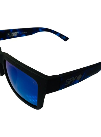 Spy Optic Montana AF Sunglasses - Soft Matte Black - Happy Gray Green Blue Spectra