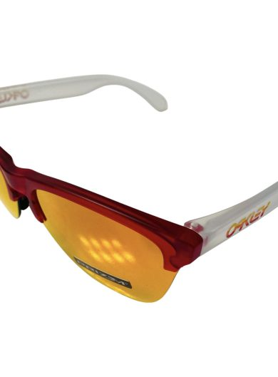 Oakley Frogskins Lite Sunglasses - Matte Translucent Red OO9374-0663 Prizm Ruby