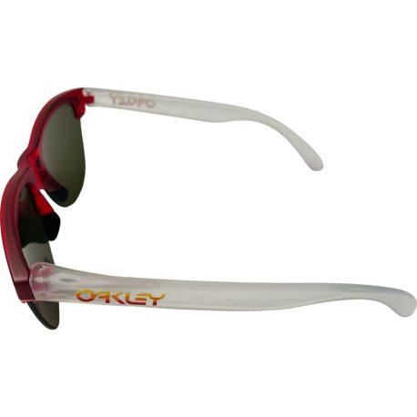Oakley Frogskins Lite Sunglasses - Matte Translucent Red OO9374-0663 Prizm Ruby