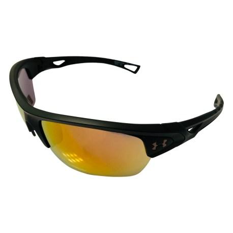 Under Armour Octane Sunglasses UA - Satin Black - Orange Baseball Tuned