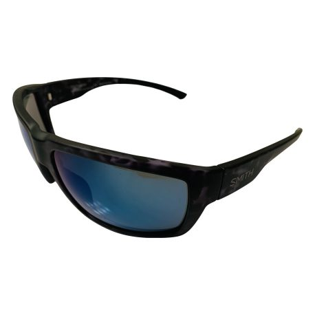 Smith Highwater Sunglasses - Matte Black Ice Tortoise - ChromaPop+ Polarized Blue Mirror