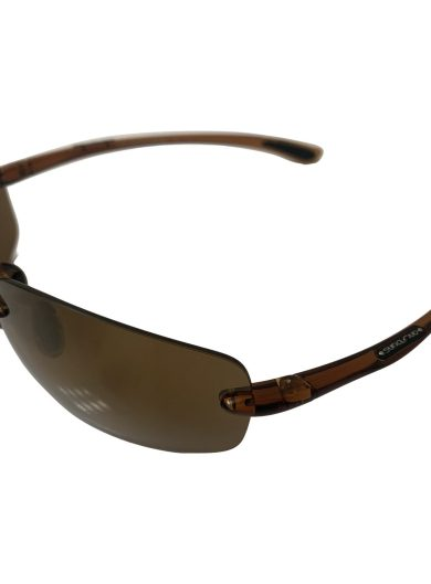 Suncloud Topline Sunglasses - Translucent Brown - Polarized Sienna Mirror