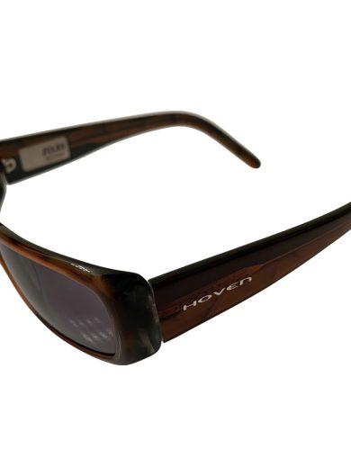 Hoven Jules Sunglasses - Tortoise Striped 90's Style Small Frame - Grey Lenses - Hoven Vision