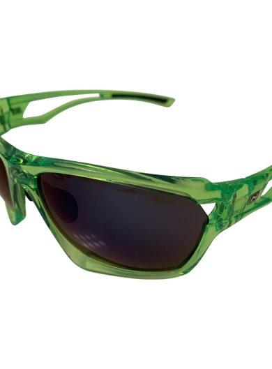 Optic Nerve Variant Sunglasses - Crystal Green - Smoke Blue Mirror + Extra Interchangeable Lenses