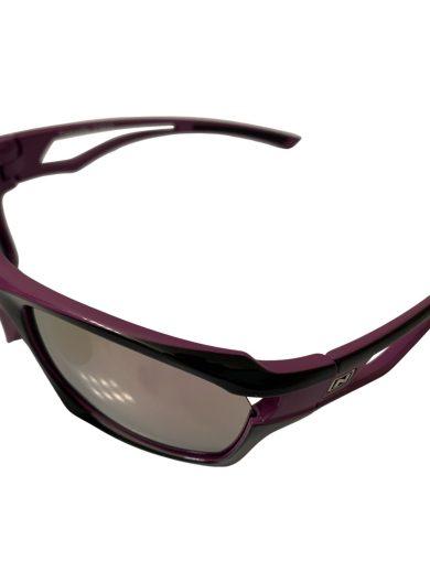 Optic Nerve Cassette Sunglasses - Shiny Violet Black - Smoke Pink Mirror + Extra Interchangeable Lenses