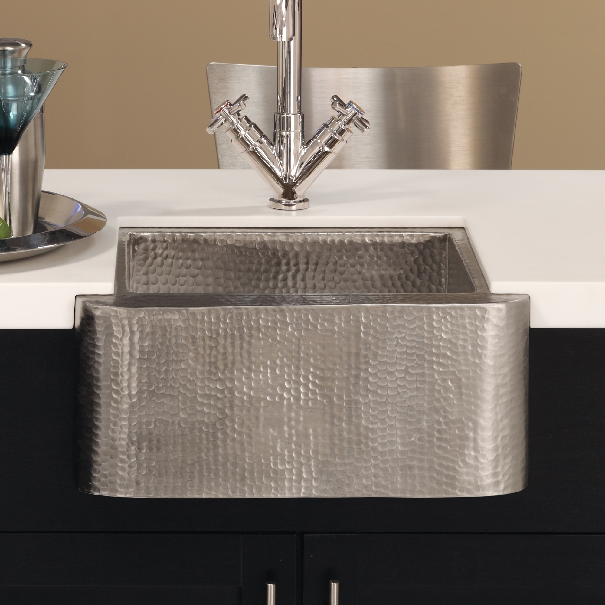 native trails cabana 18 nickel farmhouse sink brushed nickel cps513