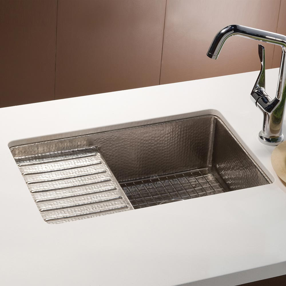 cantina pro copper bar sink with drainboard native trails