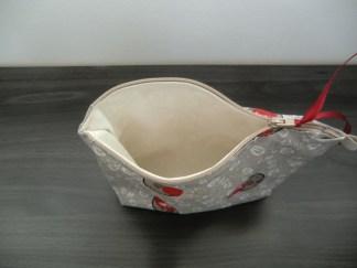 doublure coton - fermeture zip