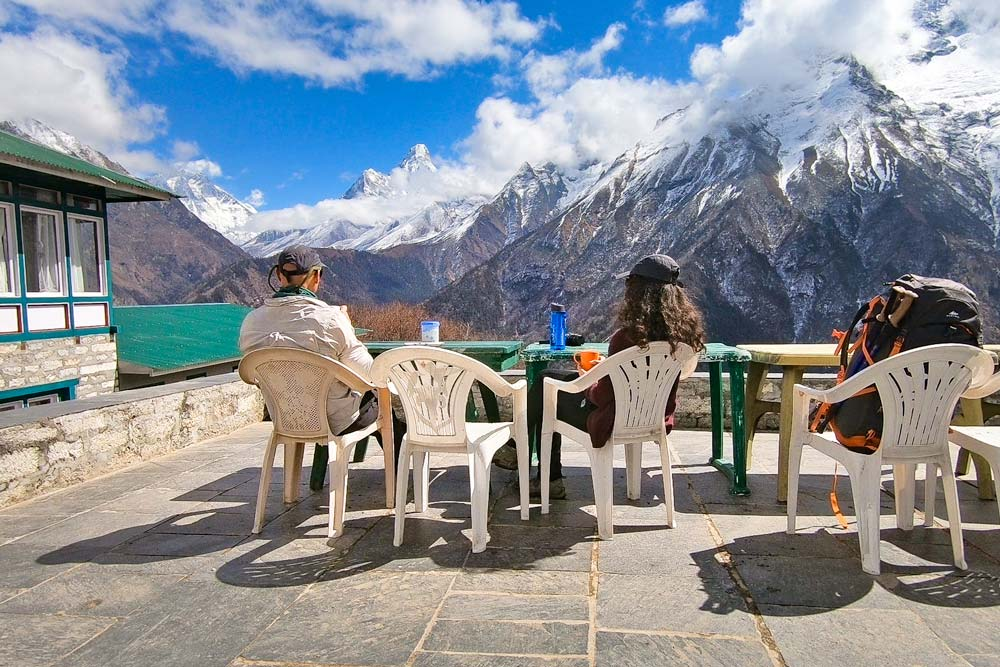 Tea-stop-near-Namche-Baser-on-Everest-Base-Camp-trek-in-Nepal