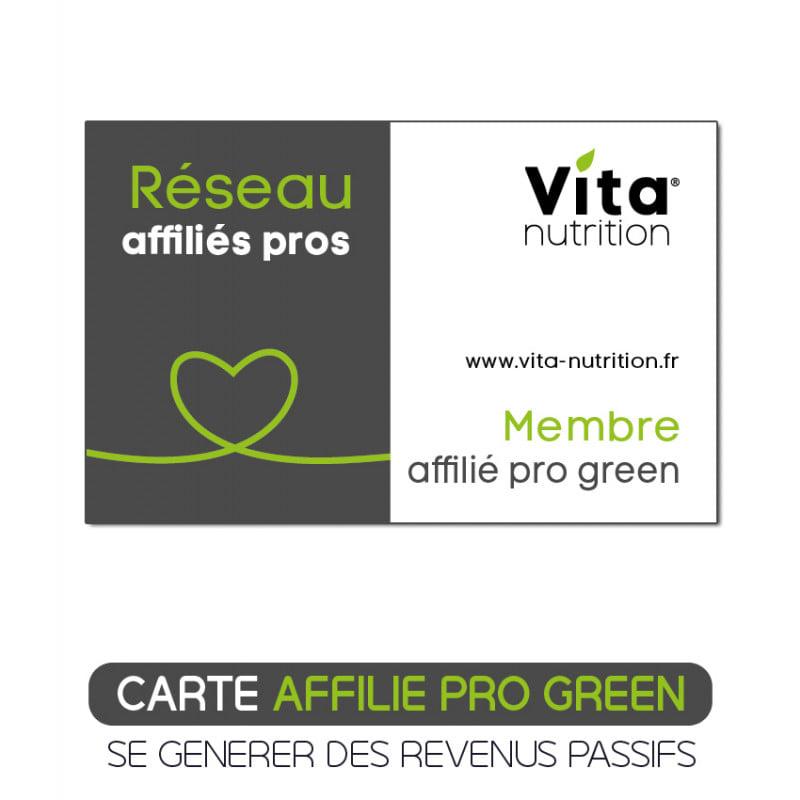 Vous êtes un professionnel, cette carte Pro Green vous permet de profiter d'avantages, de remises et de commissions grâce à notre programme d'affiliation. Développez vos revenus, on s'occupe des produits, des promos, de l'expédition, des newsletters et du blog