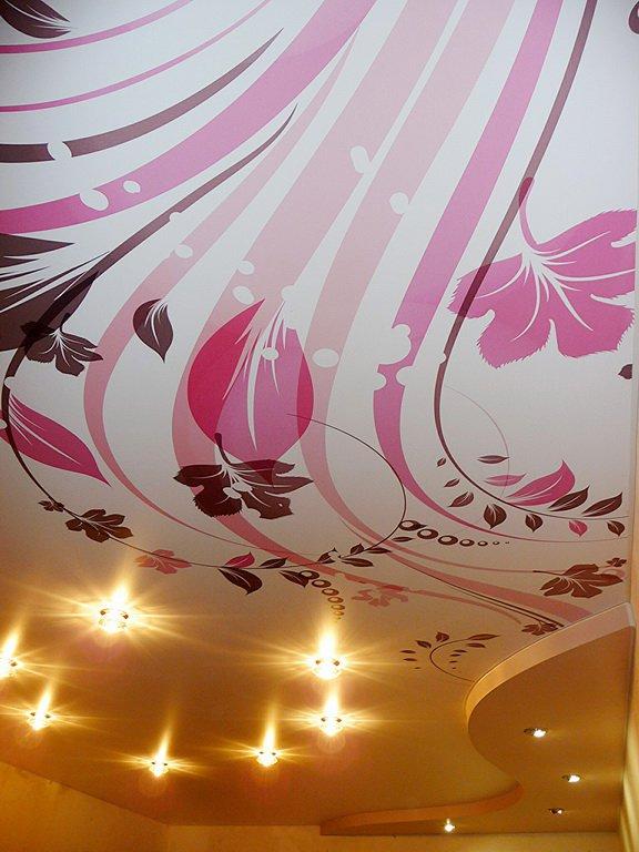 Натяжные потолки в Оренбурге с фотопечатью фото Натяжные