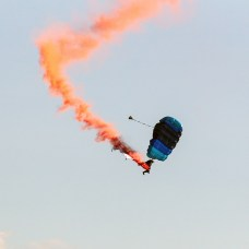 Black Ravens parachute in